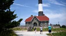 The Fire Island Lighthouse was open to the