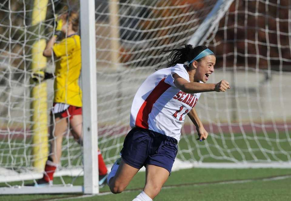 Chase Burke of CSH celebrates her team's first
