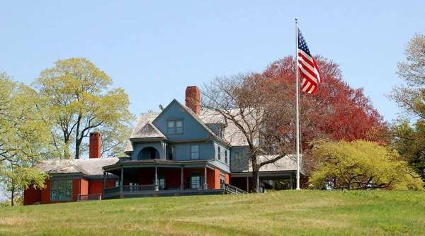 Teddy Roosevelt's Victorian home on Sagamore Hill in