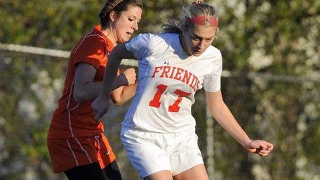 Krystina Iordanou of Friends dribbles the ball around