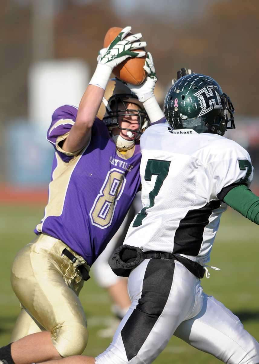 Matt Star of Sayville makes the catch with