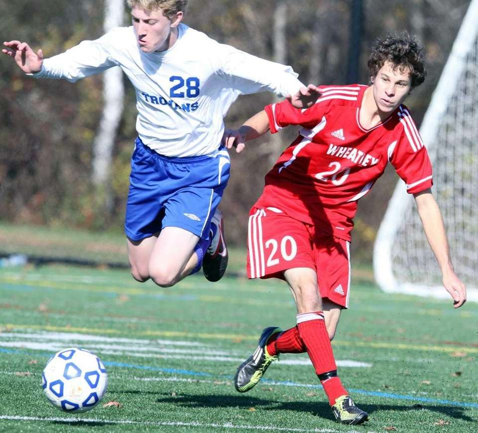 Wheatley's Greg Carlin moves against Blind Brook's Gregory