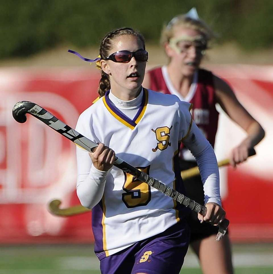 Sayville's Taylor Mills scored in the first half