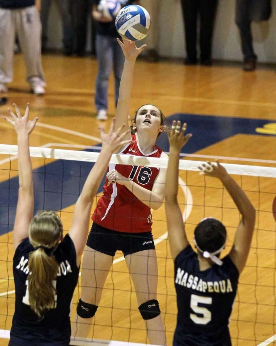 Tricia Baxley #16 of Smithtown East drives a