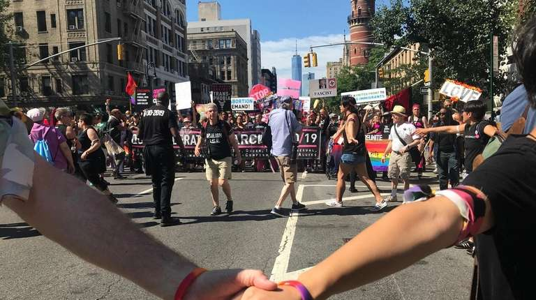 The Queer Liberation March, protesting the larger Pride