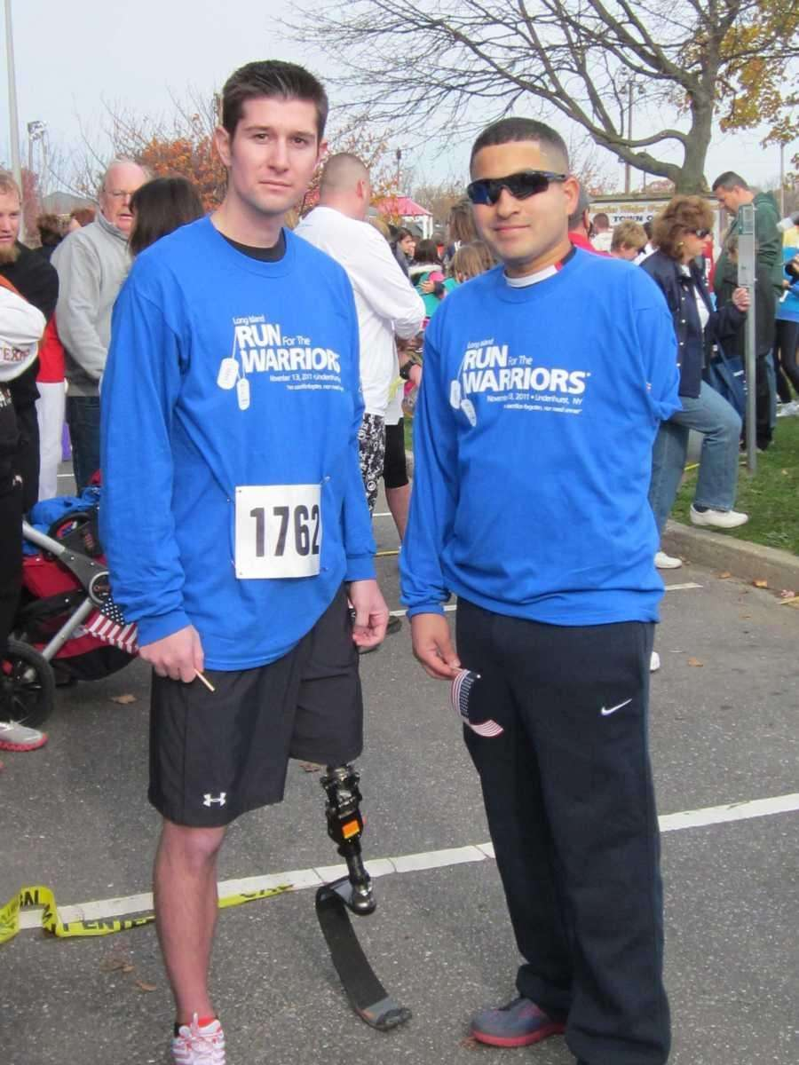 Marines Keith Zeier, left, and Manny Jimenez take
