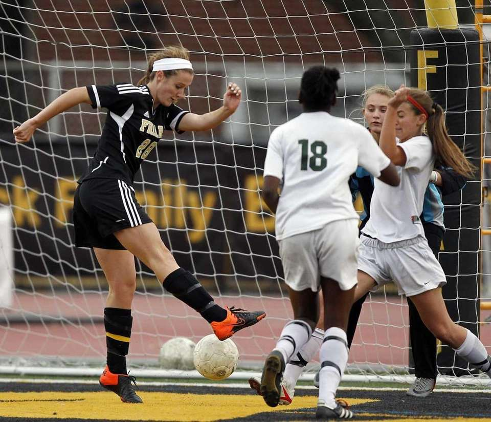 St. Anthony's Maggie Bill's shot on goal was
