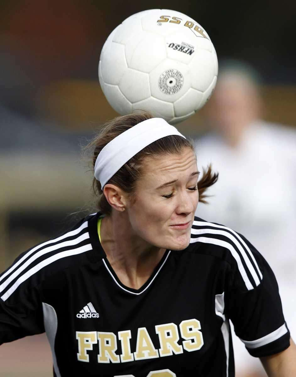 St. Anthony's Maggie Bill with the defensive header