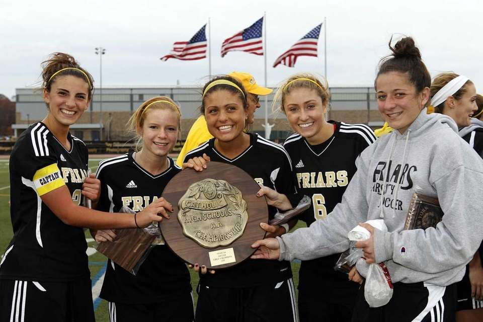 St. Anthony's captains accept their CHSAA state championship