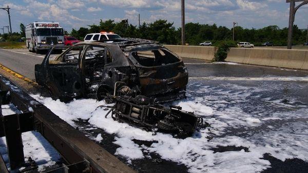 Police: Motorcycle, car burst into flames after Loop Parkway crash
