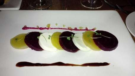 Beet and goat cheese salad at Farmhouse restaurant