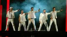 New Kids on the Block members Donnie Wahlberg,