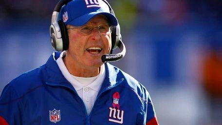 New York Giants head coach Tom Coughlin. (Oct.