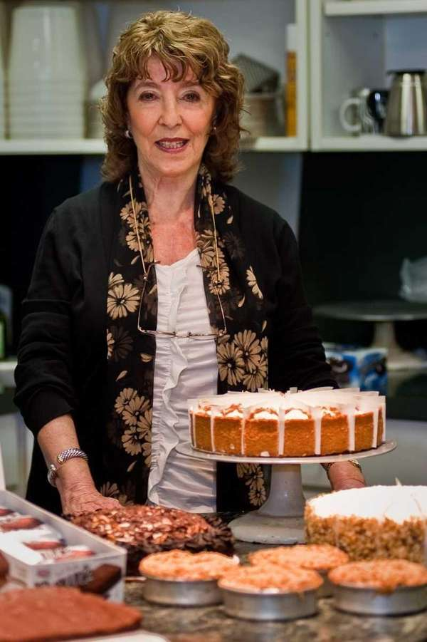 Owner Susan Axelrod with treats at her Freeport-based
