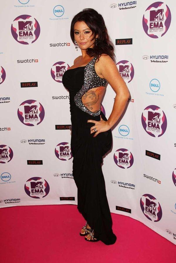 Jenni JWOWW Farley attends the MTV Europe Music