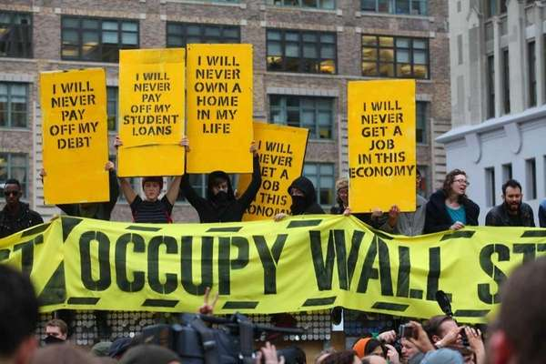 Occupy Wall Street Protestors take over Duarte Square