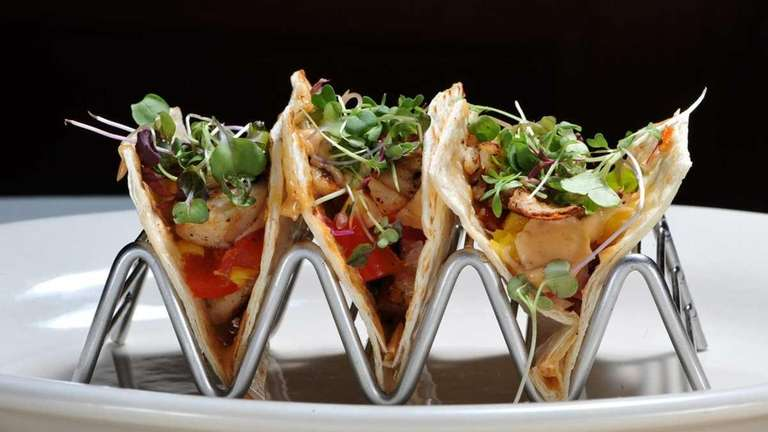 Fish tacos are served at La Casa Latina