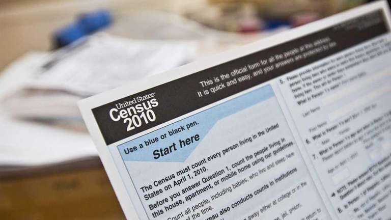 A copy of a 2010 Census form is