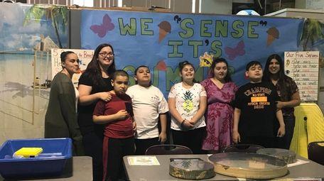 Marissa Caira and her class at Brookville Center