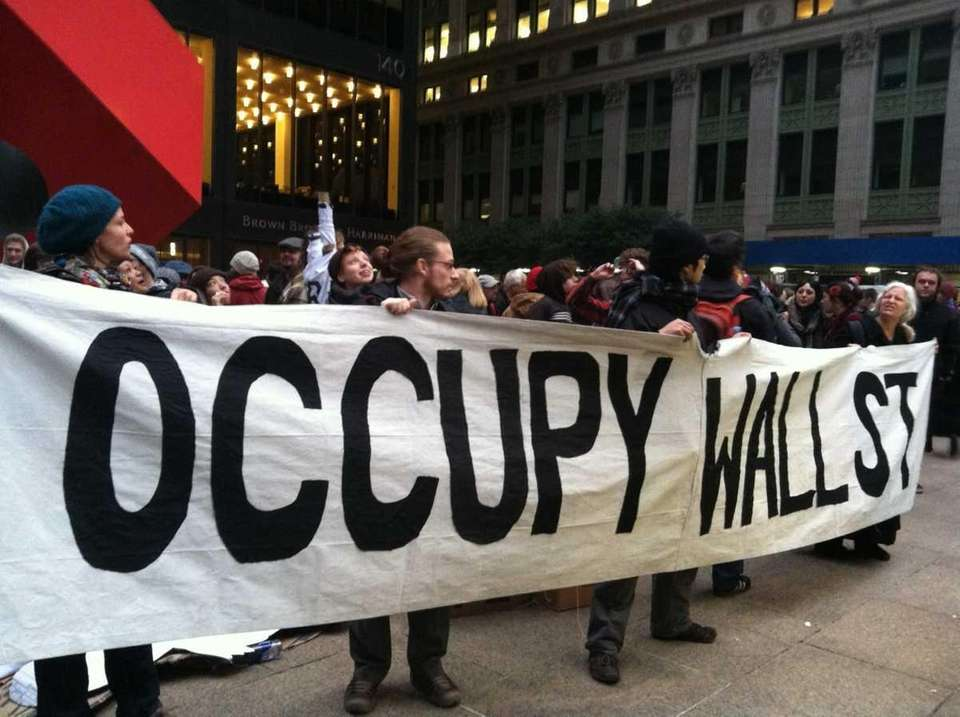 Occupy Wall Street protesters march early Thursday morning