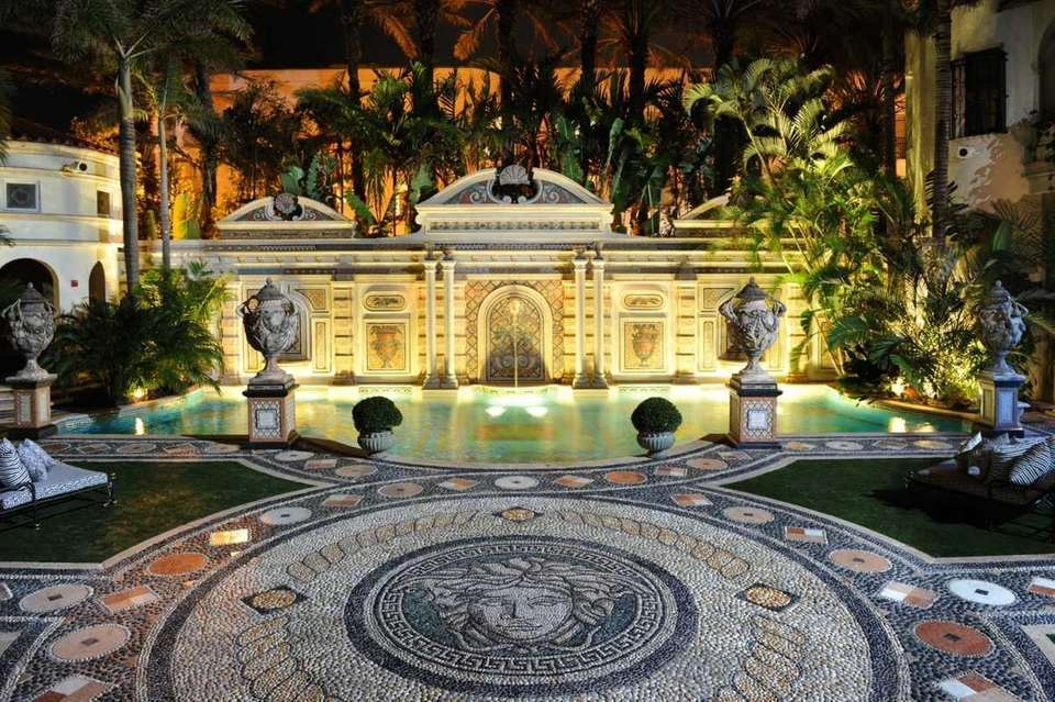 The Thousand Mosaic Pool is lined with 24-carat