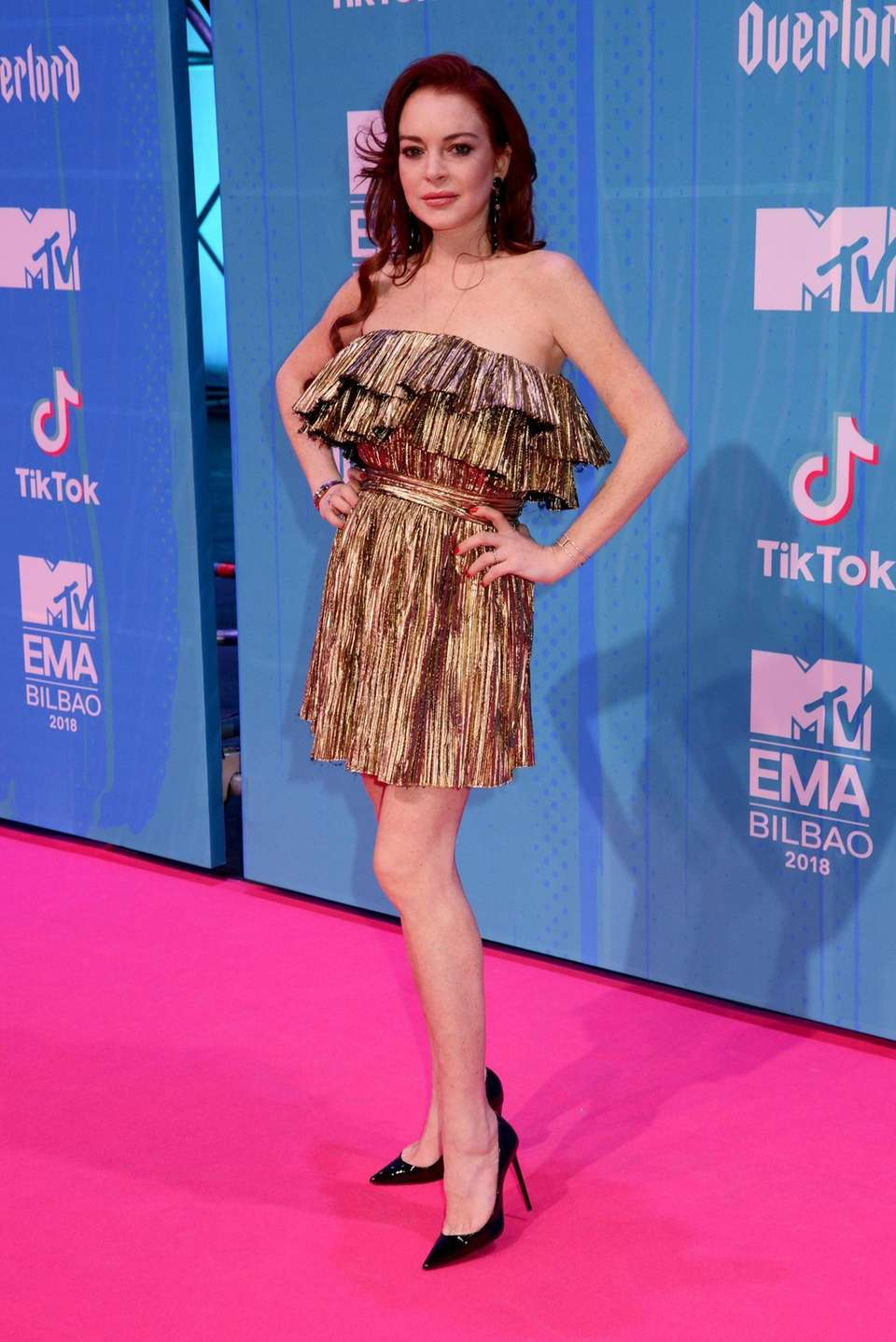 Lindsay Lohan attends the MTV EMAs at the