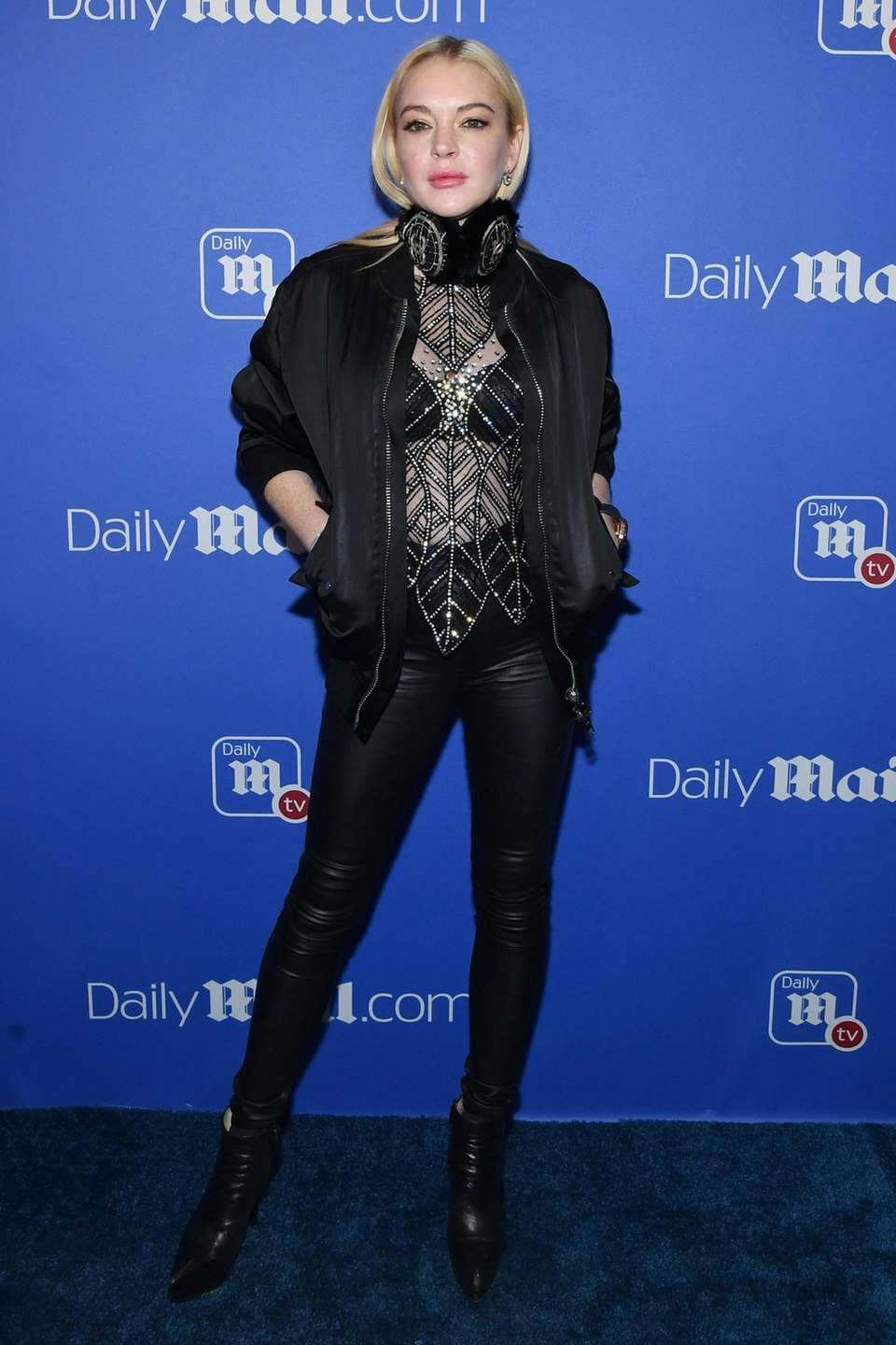 Lindsay Lohan attends DailyMail.com & DailyMailTV Holiday Party