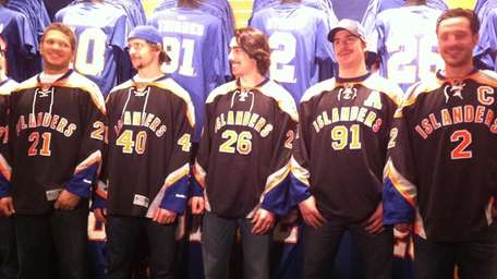 The New York Islanders in their new third