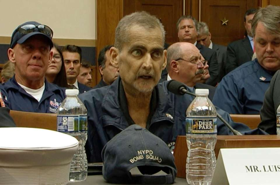 Retired NYPD Det. Luis Alvarez testified June 11