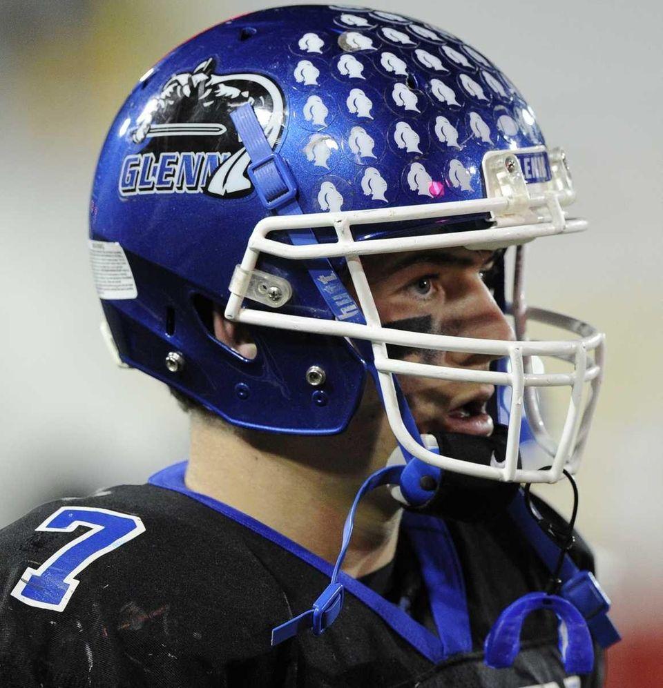 John Glenn quarterback Rich Czeczotka looks on during