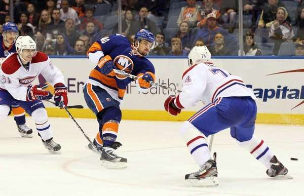 Michael Grabner #40 of the New York Islanders