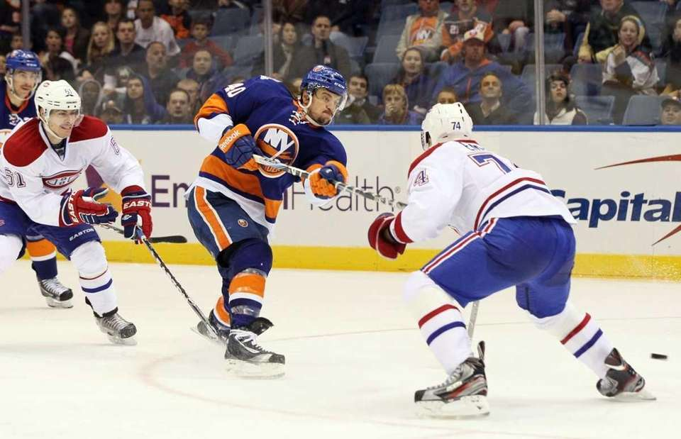 Michael Grabner #40 of the New York Islanders