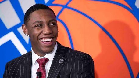 Knicks draft pick RJ Barrett speaks to reporters