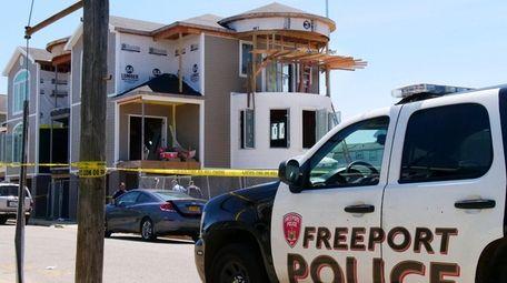 The Freeport police at the scene in Freeport