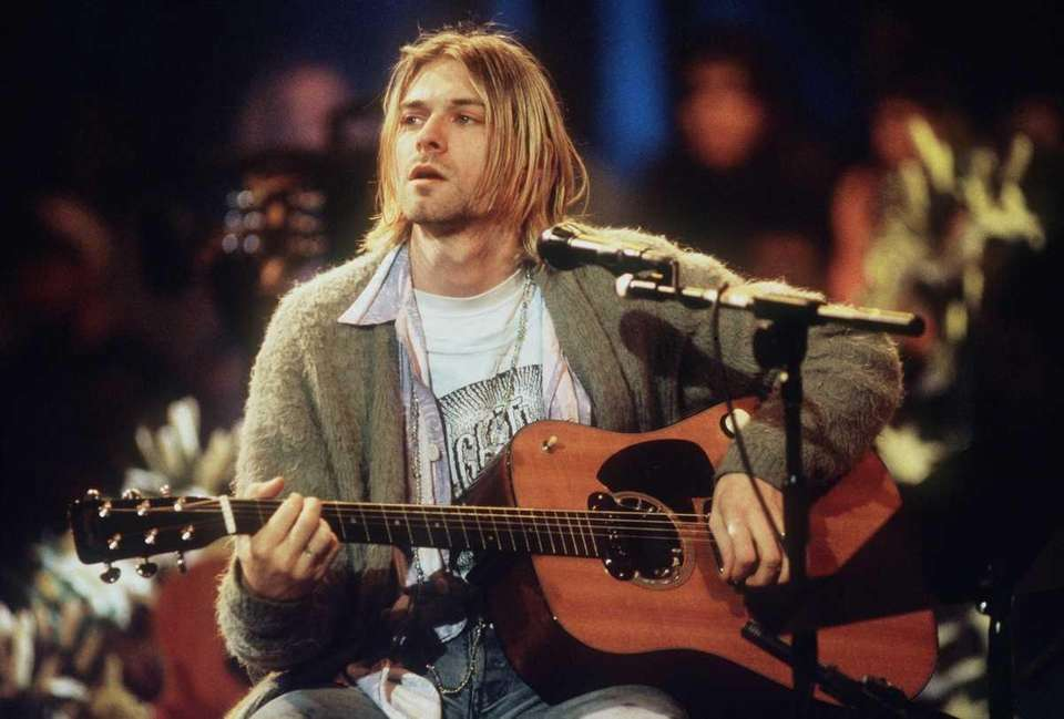 Kurt Cobain, leader of the multi-million record-selling rock
