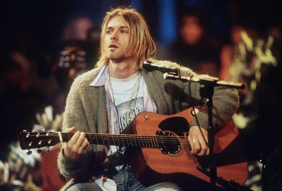 Kurt Cobain, leader of the multi-million record-selling rock