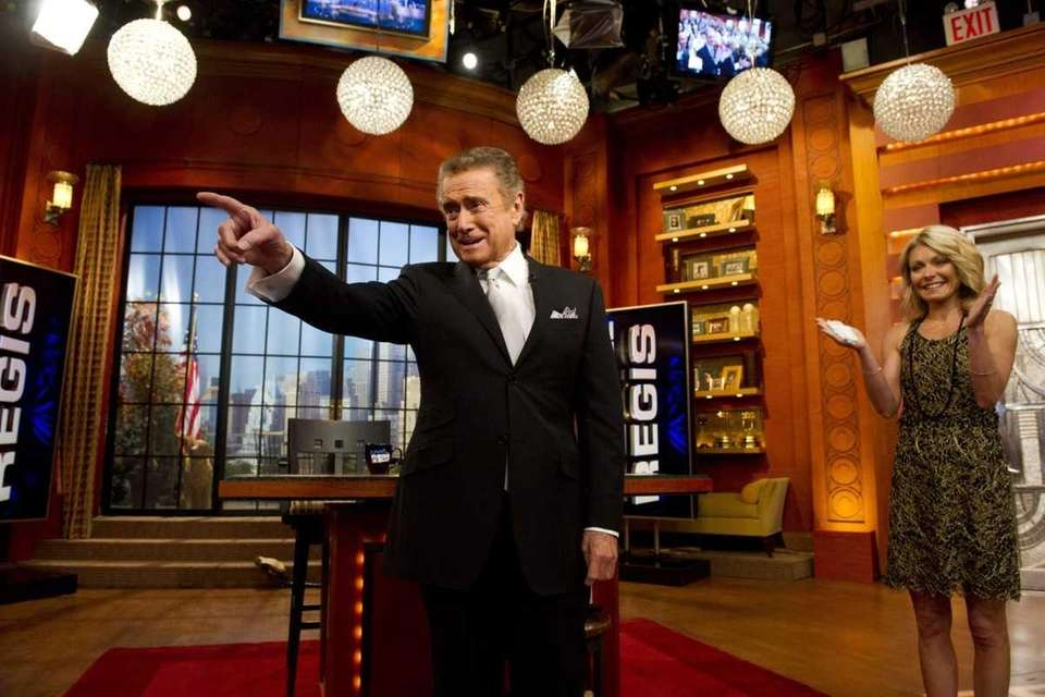 Regis Philbin and Kelly Ripa appear on his