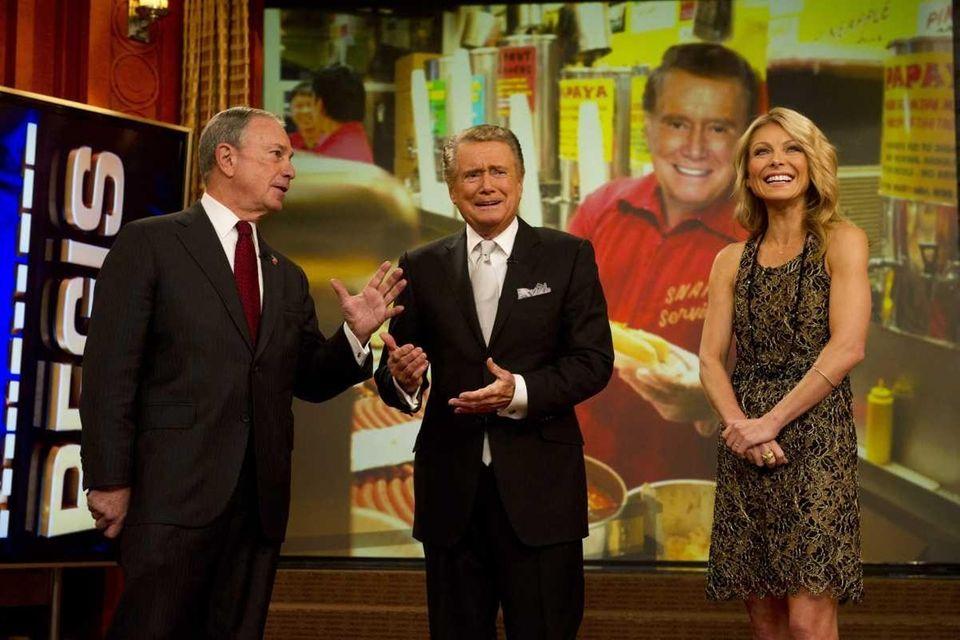 New York City Mayor Michael Bloomberg (left), Regis