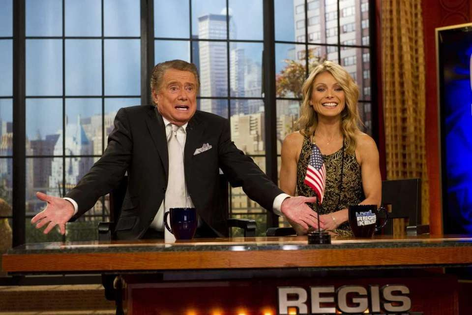 Regis Philbin and Kelly Ripa appear during his