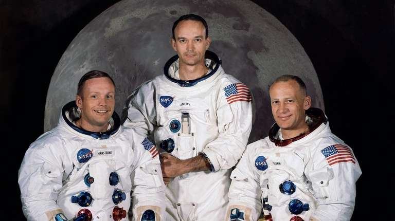 Apollo 11 commander, Neil Armstrong, left; Michael Collins,
