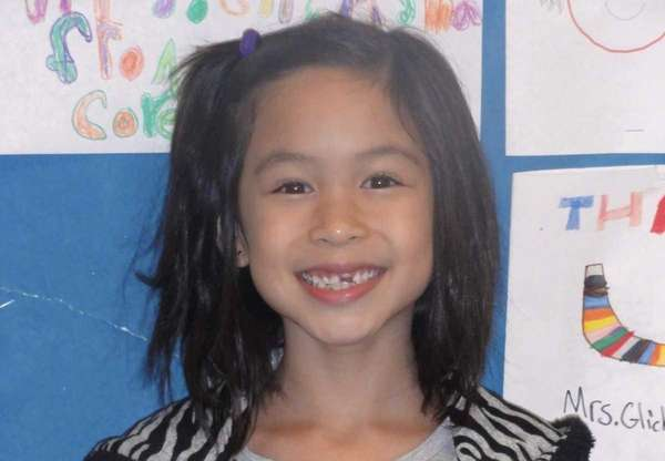 Cassidy Baltazar, a second-grader at Gardiners Avenue Elementary