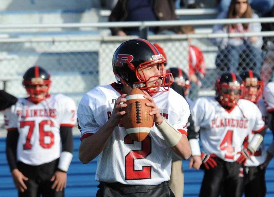 Plainedge's Nick Frenger looks for an open receiver