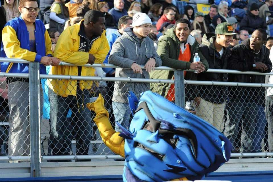 Lawrence Golden Tornadoes hangs out with fans during