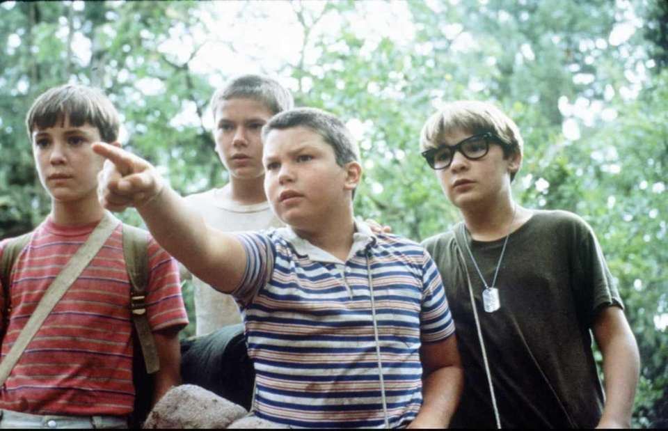 Actor and teen icon River Phoenix, second from