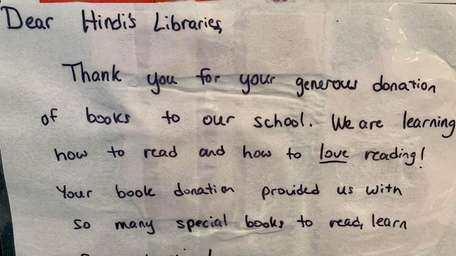 Hindi's Libraries has received notes of gratitude, such