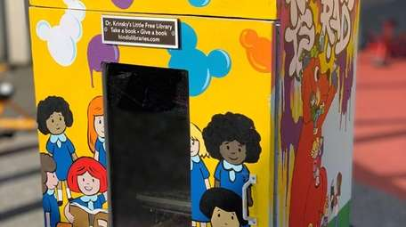 One of the little libraries established in memory