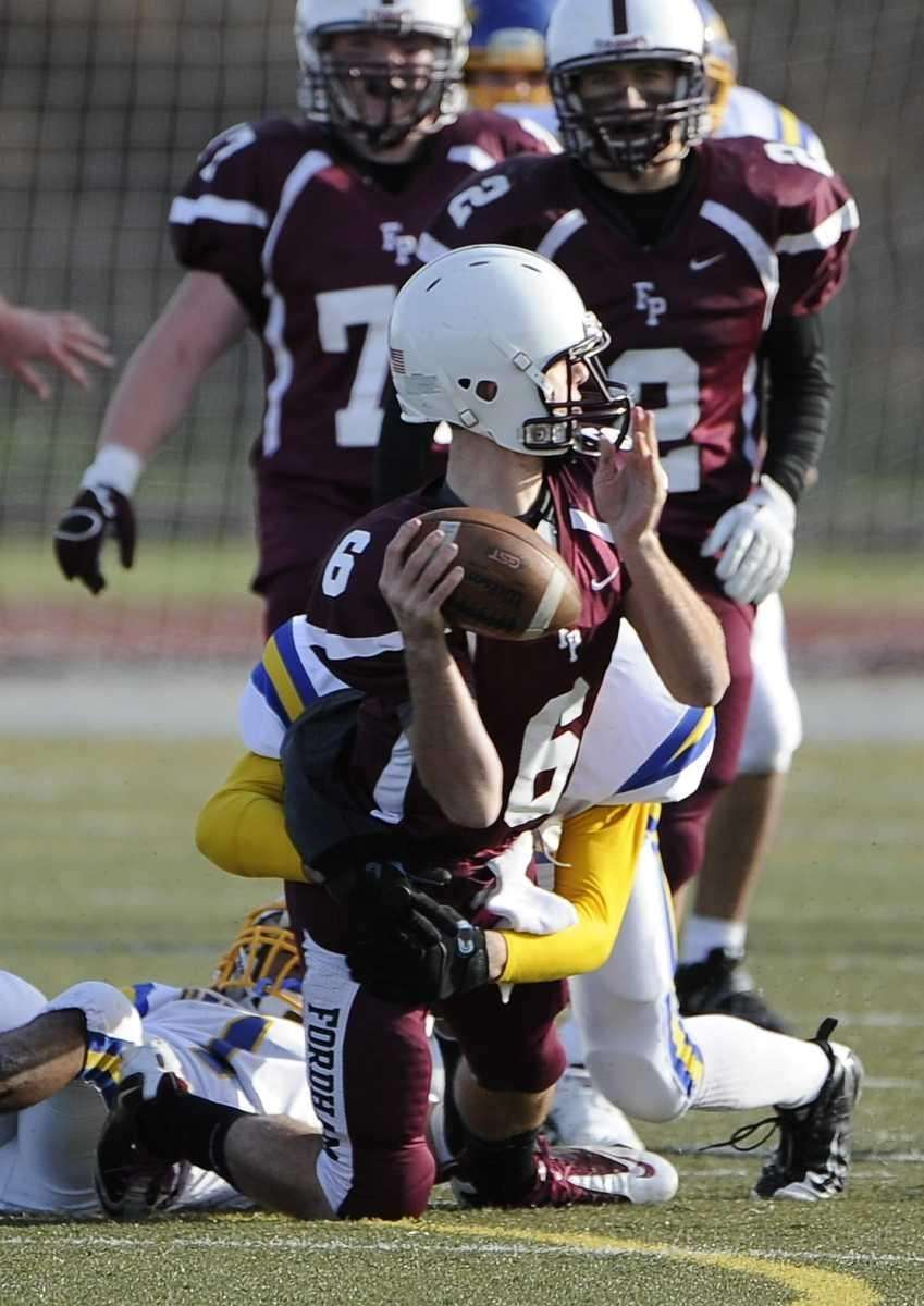 Fordham Prep's quarterback James McHale is about to