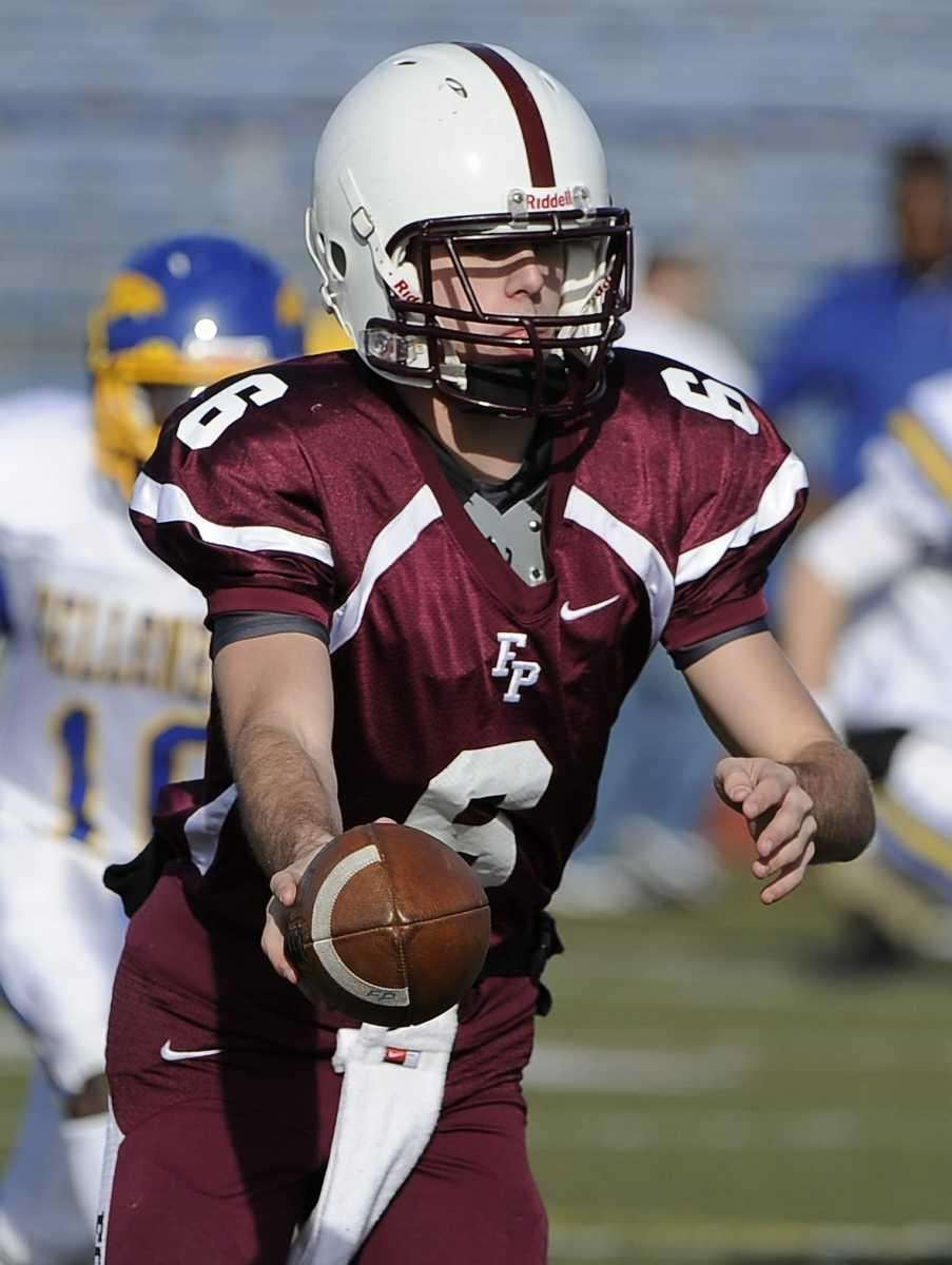 Fordham Prep quarterback James McHale is about to