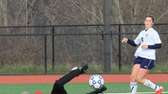South Side's goalie blocks a shot against Williamsville