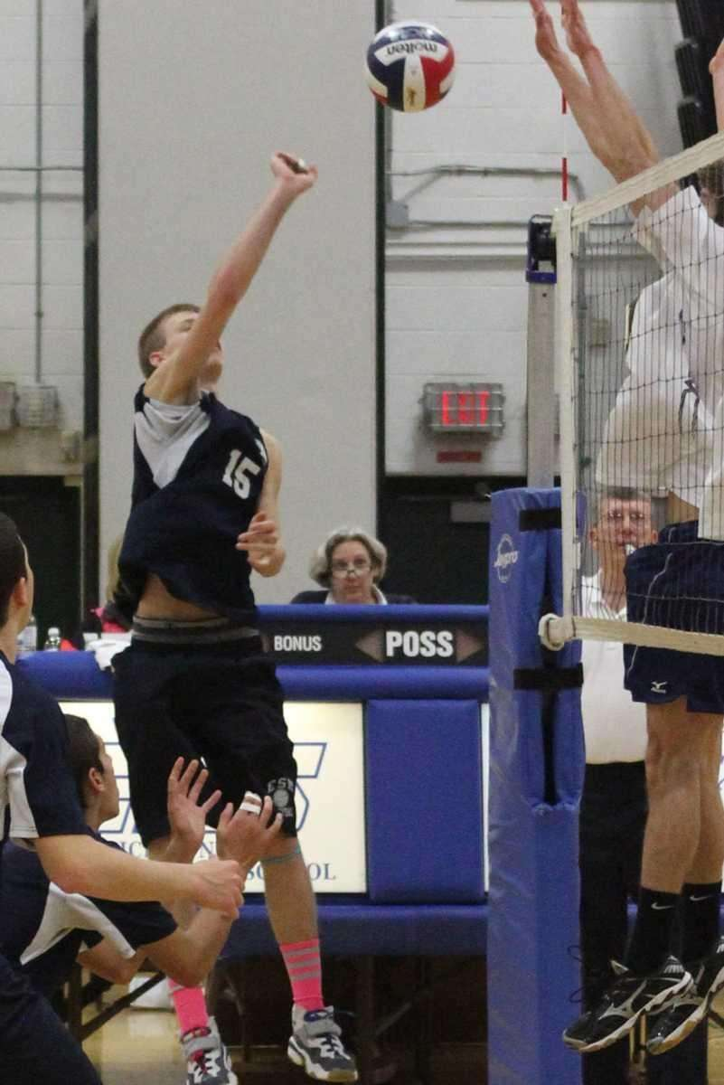 Eastport South Manor's John Bohnenblusch goes for the